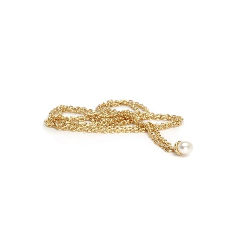 Collana d'Oro 14 kt. con Perla